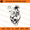 Tropical Skull SVG