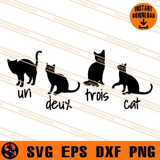 Un Deux Trois Cat SVG