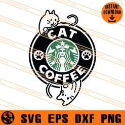 Cat Coffee SVG