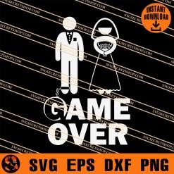 Game Over Wedding Groom SVG