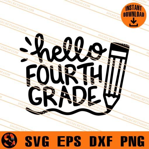 Hello Fourth Grade SVG
