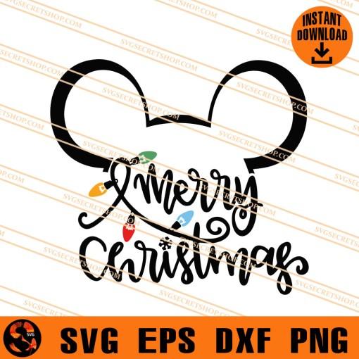 Mickey Mery Christmas SVG