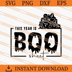 This Year is Boo Sheet SVG