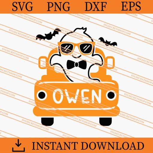 Boo Halloween Truck SVG