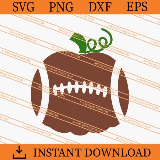 Football Pumpkin SVG