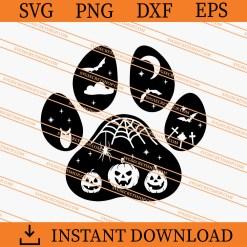 Halloween paw SVG