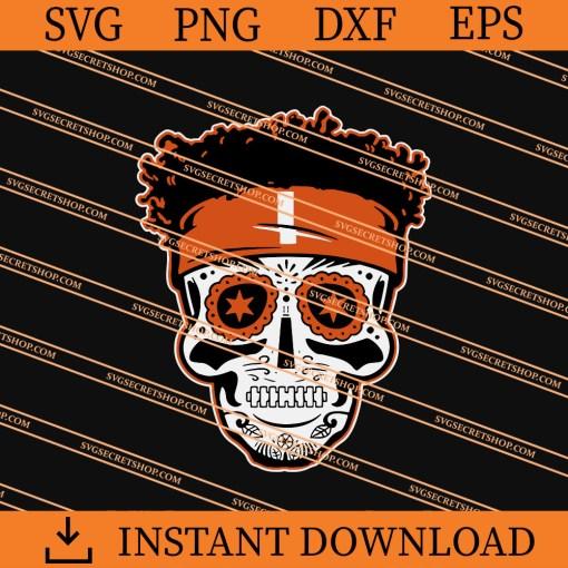 Justin Fields Sugar Skull Halloween SVG