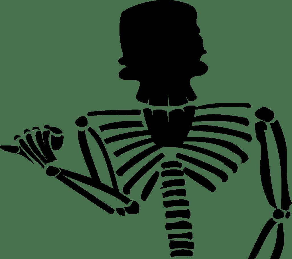 Svg Tulang Kematian Kartun Watak Imej Ikon Svg Percuma Svg Silh