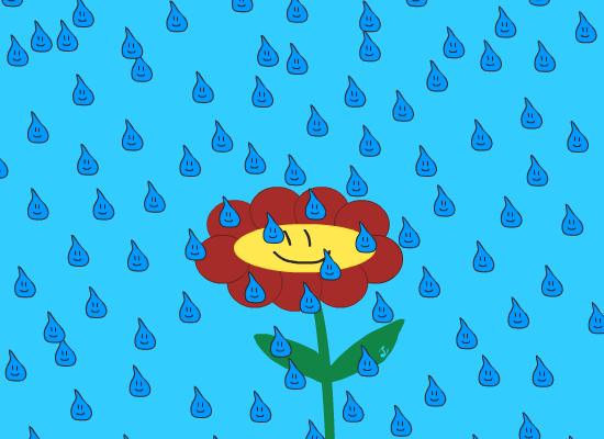 animasjon, regnværsdag