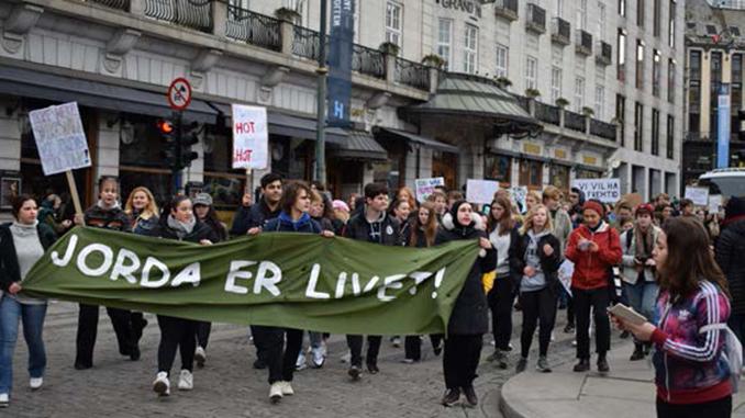 klimastreik,demonstrasjon,mediefag,sørumsand_vgs
