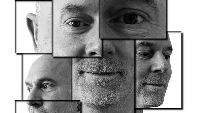 ansikt,collage,kubismen,foto