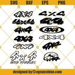 4X4 Four By Four Logo Svg