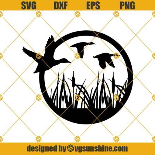 Flying Duck Svg, Duck Hunting Svg, Duck Svg