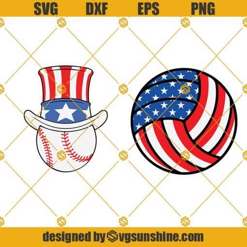 Flag Baseball 4th July American Svg, Independence Day Svg, Baseball Svg