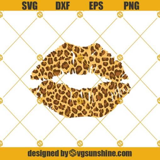 Leopard Prints Lips Svg, Lips Svg, Leopard Svg