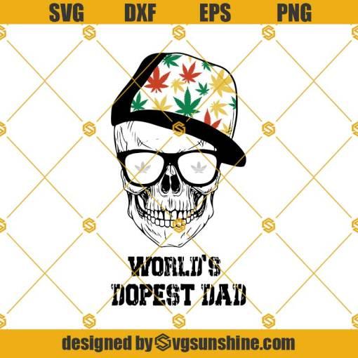 Worlds Dopest Dad Svg, Dad Skull Svg