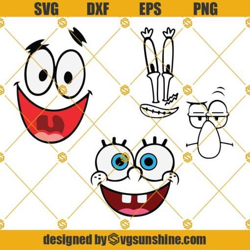 SpongeBob Faces Svg, SpongeBob Svg