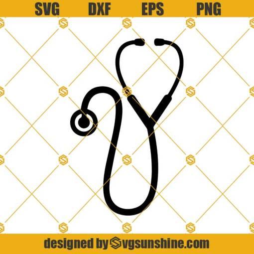 Stethoscope Svg, Stethoscope Monogram Svg,