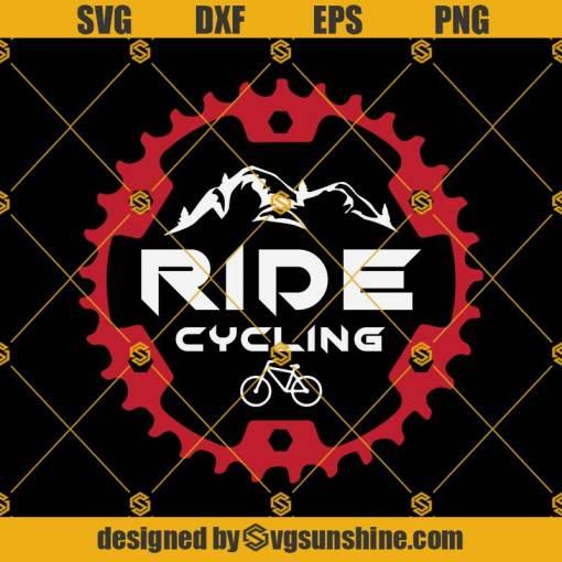 Mountain Bike Svg, RIDE Drawing Svg