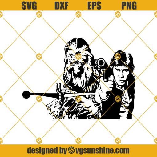 Han Solo Chewbacca Svg, Star Wars Svg, Darth Vader Svg, Yoda Svg