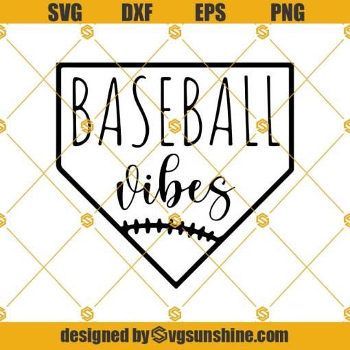 Baseball Vibes Svg, Baseball Ball Svg, Baseball Svg, Baseball Mom Svg