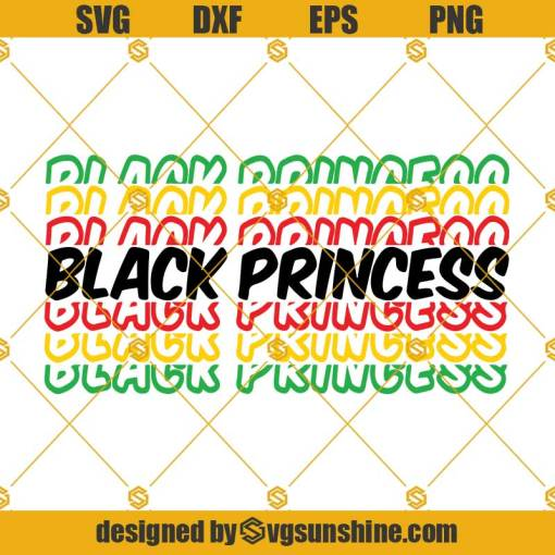 Black Princess SVG, Juneteenth SVG