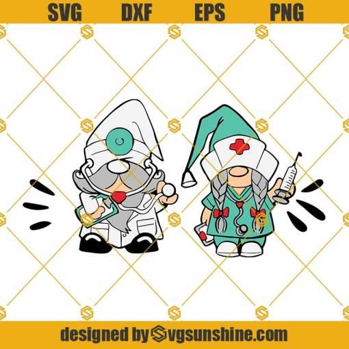Gnomes Nurse And Doctor Svg, Gnomes Nurse Svg, Gnomes Svg