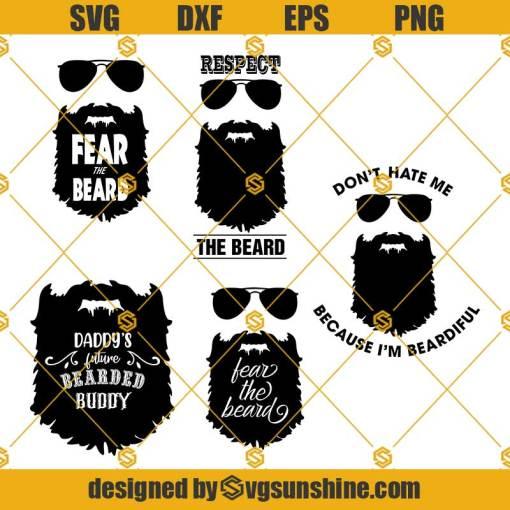 Beard Dad SVG, Beard SVG, Bearded Man SVG, Mustache SVG Bundle, Bearded Father SVG Bundle