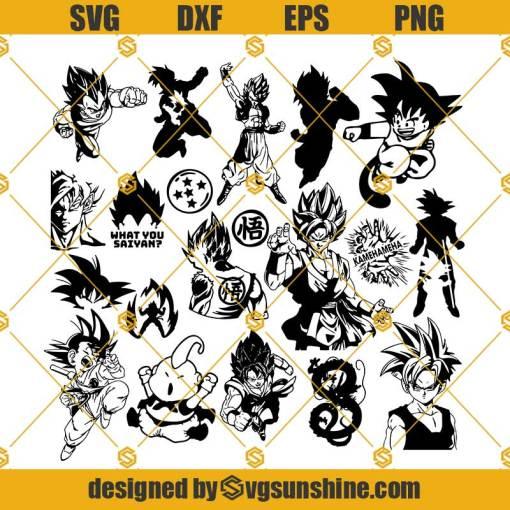 Dragon Ball Bundle Svg, Goku Svg