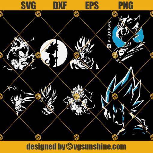 Goku Bundle Svg, Dragon ball Svg, Super Saiyan Svg