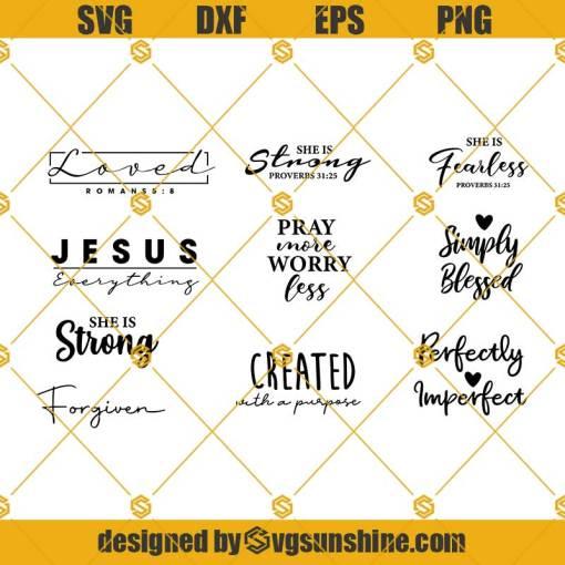 Religious Bundle SVG, Bible Verse Bundle, Bible Verse svg, Christian svg, Faith svg, Jesus svg