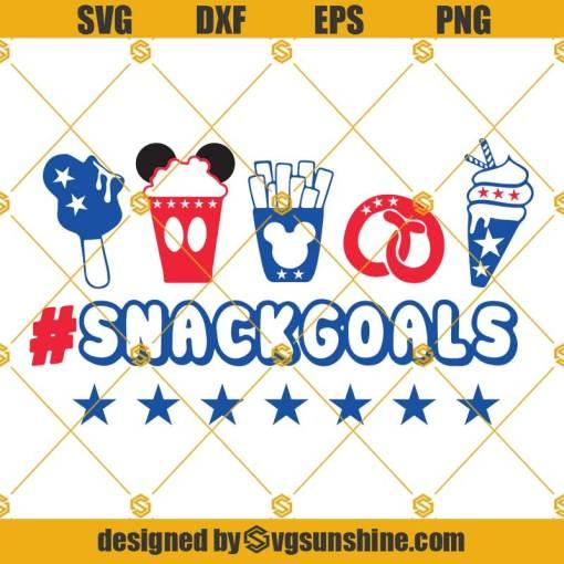 Disney Snack Goals Svg, Snacks Lover Svg, Disney 4th of July, Patriotic America Svg