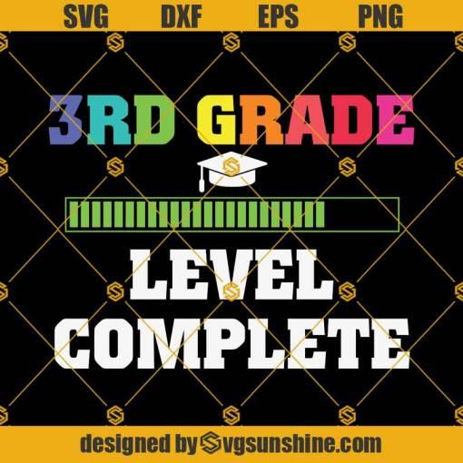 Graduation 3rd Grade Level Complete-Svg, Graduation Svg, Kindergarten Svg, Pre K Svg, Back To School Svg