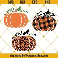 Buffalo Plaid and Leopard Pumpkin SVG, Pumpkin SVG Bundle, Plaid Pumpkin SVG, Pumpkin Clipart, Pumpkin Halloween SVG