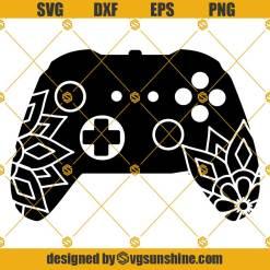 Mandala Video Game Controller SVG, Xbox SVG, Xbox Controller SVG, Game Controller SVG, Game SVG Clipart Cricut Silhouette