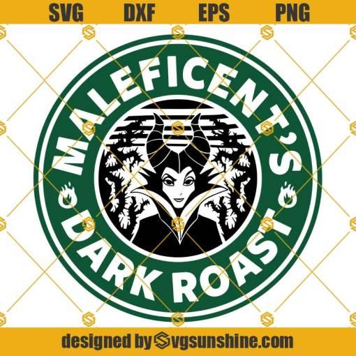 Maleficent Starbucks Svg