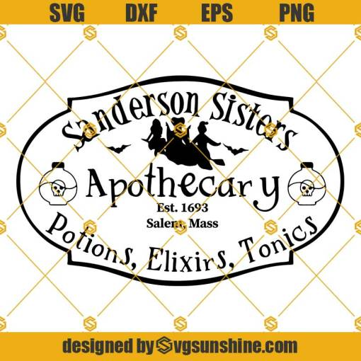 Sanderson Sister Apothecary SVG
