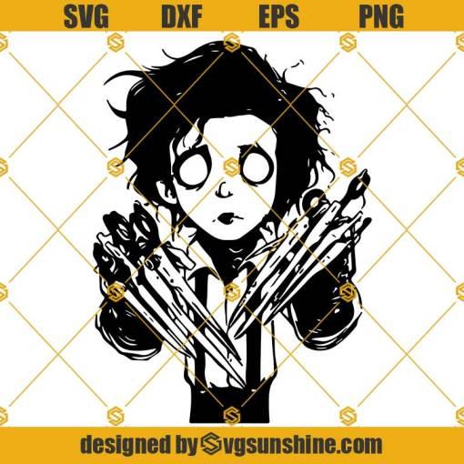 Edward Scissorhands SVG, Edward Scissorhands PNG DXF EPS