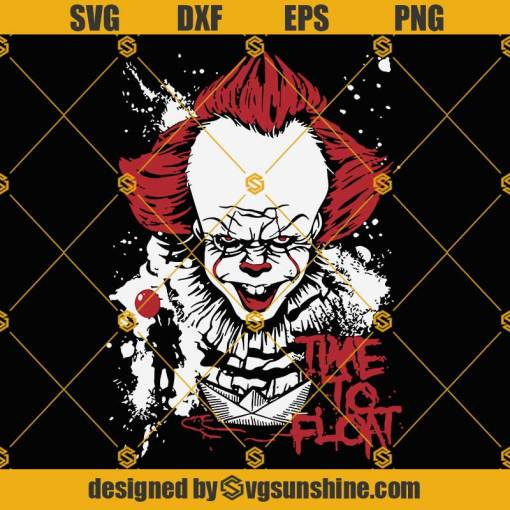 IT Pennywise SVG, Horror Movie Killer SVG, Horror Clown Movies SVG