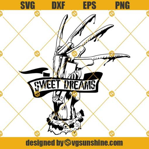 Freddy Krueger Glove SVG, Sweet Dreams SVG Freddy Krueger SVG Elm Street SVG