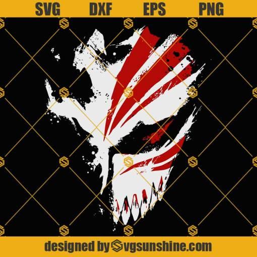 Ichigo Hollow Mask SVG, Kurosaki Ichigo SVG, Anime SVG