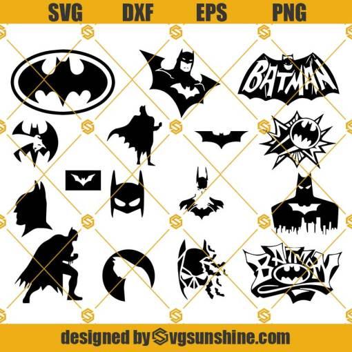 Batman Bundle SVG, Bat SVG, Super Cut Files