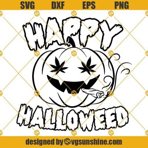 Happy Halloweed SVG, Smoking Pumpkin SVG