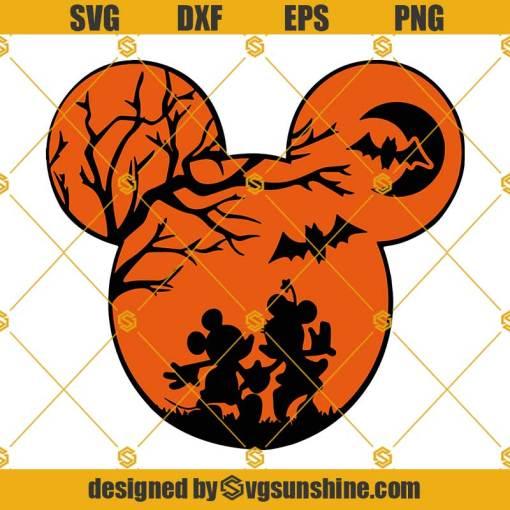Disney Halloween SVG PNG DXF EPS Cut Files Vector Clipart Cricut Silhouette