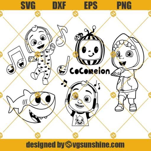 Baby Bundle SVG, Cocomelon SVG, Baby Johny SVG, Baby Shark SVG