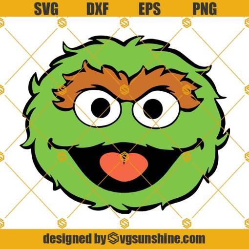 Oscar The Grouch Sesame Street SVG
