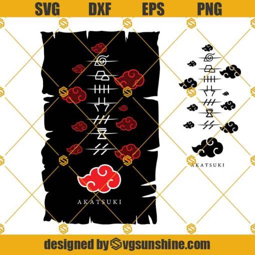 Akatsuki Naruto Svg, Anime Svg, Anime Design, Anime Manga SVG