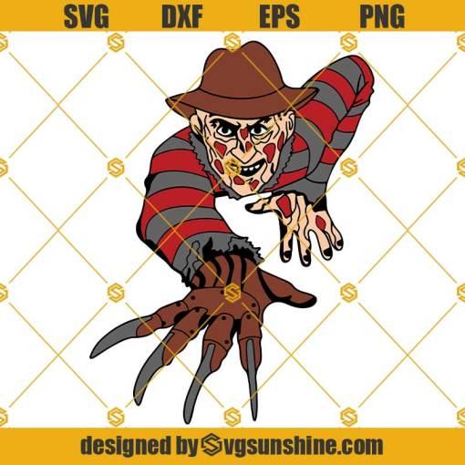 Freddy Krueger Layered SVG, Horror Movie Characters SVG, Halloween SVG