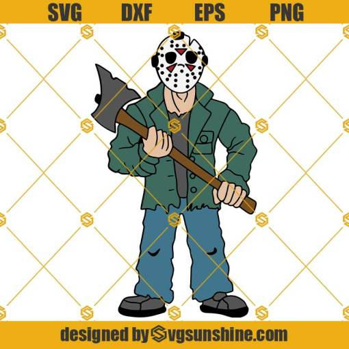 Jason Voorhees SVG Layered Horror Movie Characters SVG