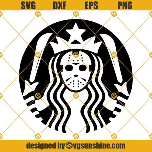 Jason Voorhees Starbucks Halloween SVG, Jason Starbucks SVG Friday the 13th SVG